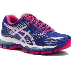 Asics Gel Nimbus Blue/Hot Pink -Size : 7
